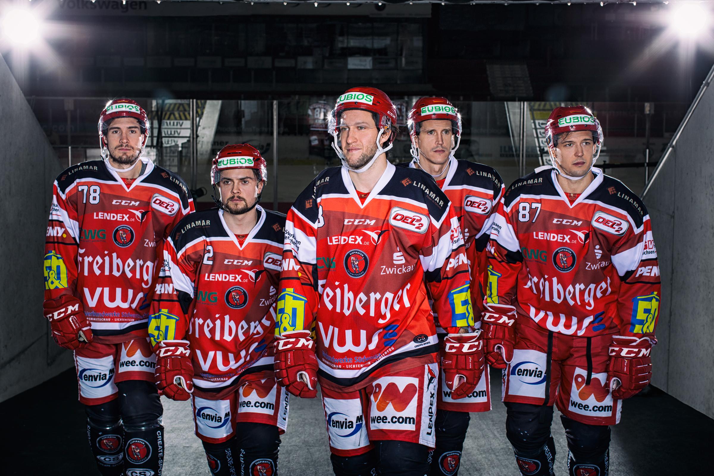 Eishockey Spieler im Stadiontunnel. Ice Hockey player in the stadium tunnel.